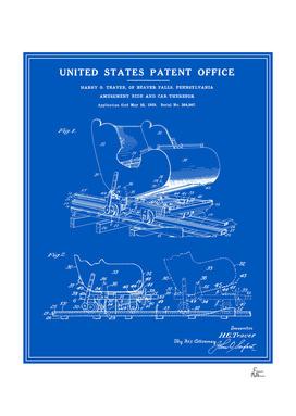Roller Coaster Patent - Blueprint