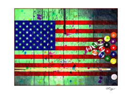 Billiard U.S. Flag