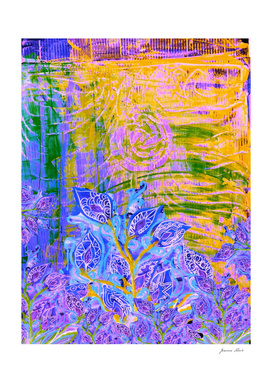 Perpetual Clan of moody blue Irises