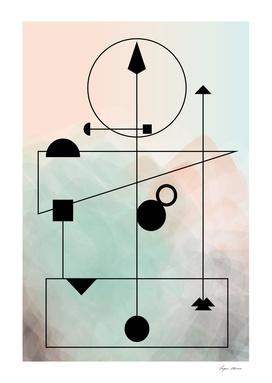 Geometric Scandinavian Design Pastel Colors Poster