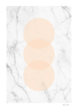 Marble Scandinavian Design Geometric Circle