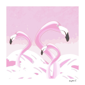Soft Pink Flamingos Design