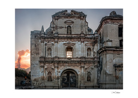 Facade of a ruined Church in Antigua, Guatemala