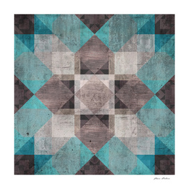 Aqua & Brown Quilt