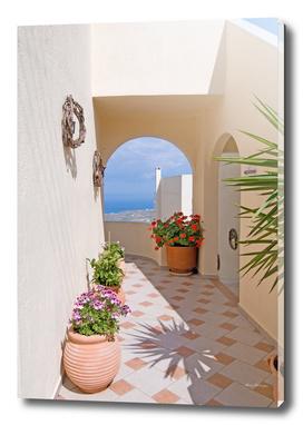 View on Santorini island