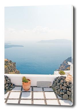 View of Santorini island