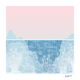 Pastel Sea Landscape Design