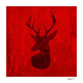 Red Deer Silhouette Design
