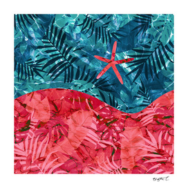 Abstract Under Water Starfish Design