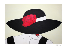 lady in a black hat