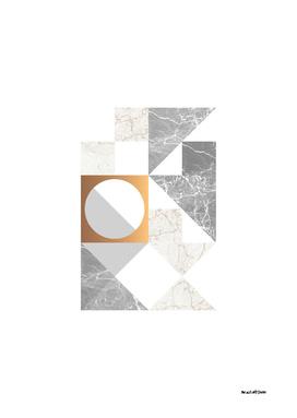Marble Geometric Grey/White