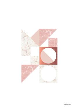 Marble Geometric Blush/White