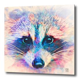 Cute raccoon in watercolor