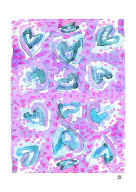 Cupcake Icing Hearts