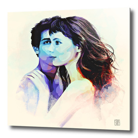 couple in watercolor