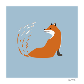 Minimalist Abstract Fox Design