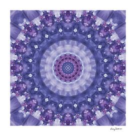 Amethyst Fractal Kaleidoscope Mandala