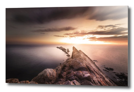 Sunset  Coast, Waves and Rocks