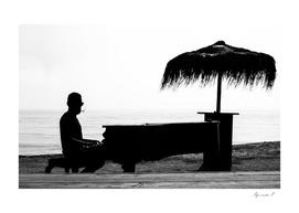 Beach piano
