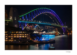 Sydney Harbour Bridge during Vivid Festival