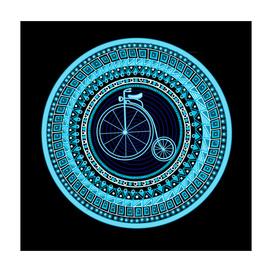 Vintage bicycle mandala