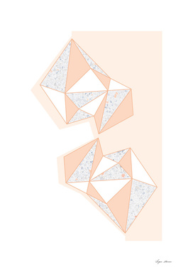 Geometric Nude Color Terrazzo Abstract Design