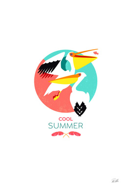Cool Summer Pelicans