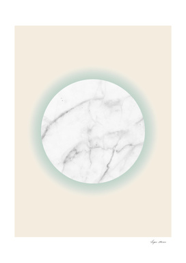 White Marble Circle Pastel Yellow Green Gradient