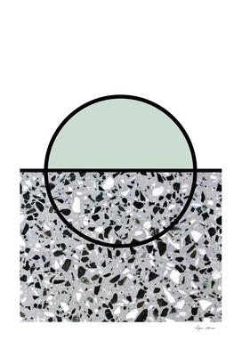 Minimal Modern Terrazzo Pattern Design Mint Green