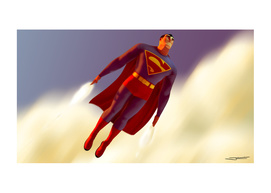 Classic Superman In Flight