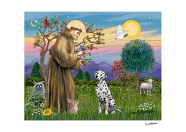 Saint Francis Blesses a Dalmatian