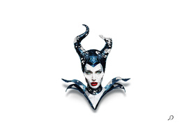 Lowpoly Maleficent Angelina Fantasy Fan art Illustration_8K