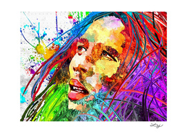 Bob Marley Grunge Portrait