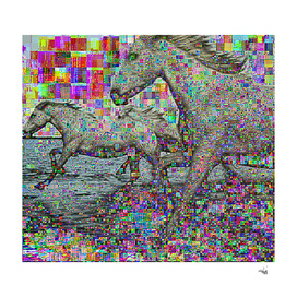 wild glitch horses