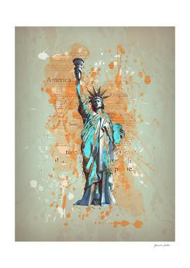 Liberty, USA - Retro / Vintage / Grunge Design