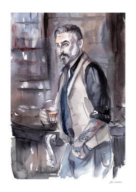 Man in the bar