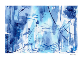 Blue vibes #4    watercolor