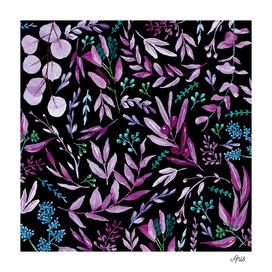 Eucalyptus Watercolor Set Violet