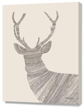 Stag / Deer (On Beige)