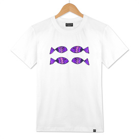Jeweled Fishes IV Purple