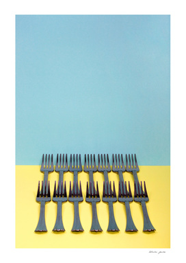 A very simple still life with forks