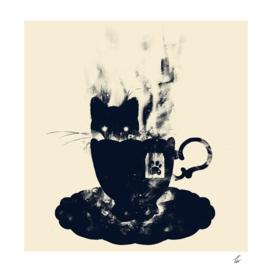 Having tea with my lovely cat