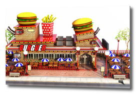 Cartoon Burguer Restaurant