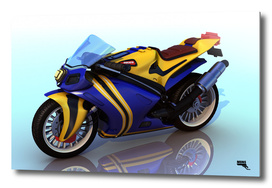 Cartoon MotorBike