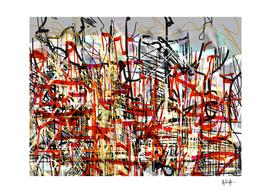 Black and Red Graffiti Skyline
