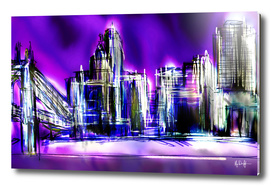 Purple Cincinnati Skyline
