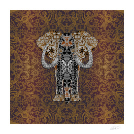 Ganesha   (Bobbin Lace Background Pattern)
