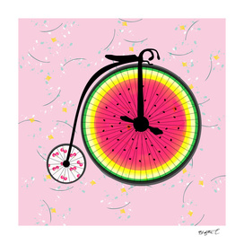 Vintage Bicycle Fruits Wheels Design