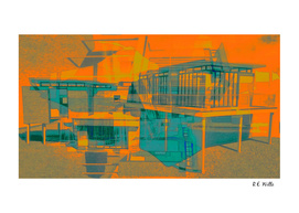 Flat Architectural, Orange & Teal, pt. 1