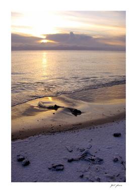 Hiver sur le golfe de Riga